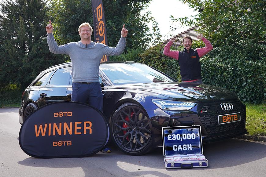 Stewart wins Audi RS6 Avant + £30k
