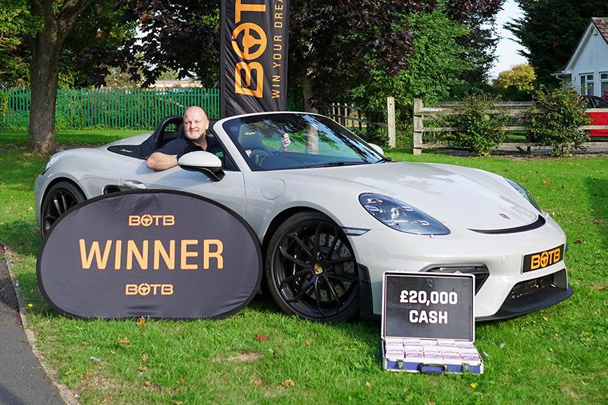 Peter wins Porsche 718 Boxster GTS 4.0 + £20k