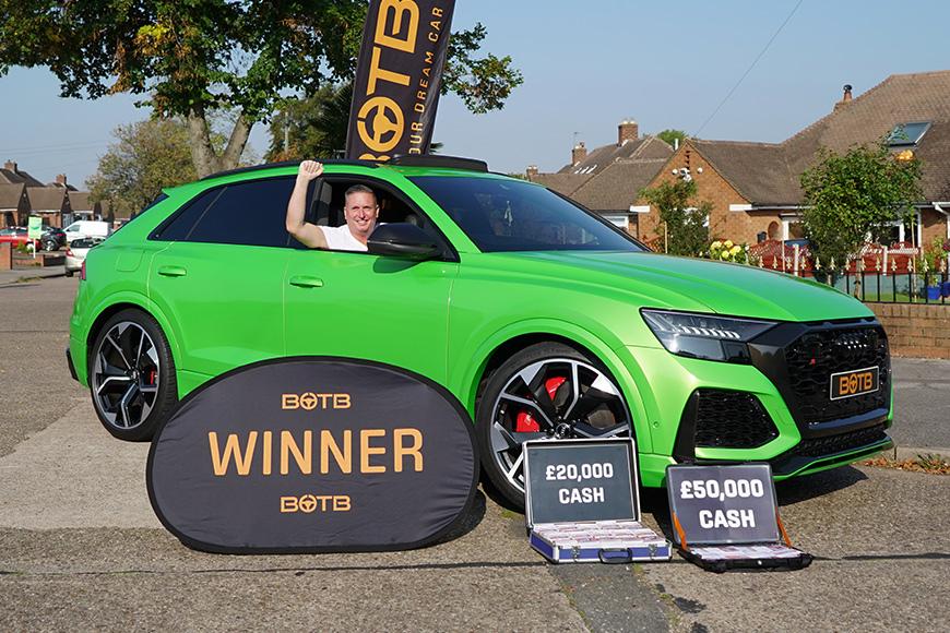 Steven wins Audi RSQ8 + £70k